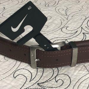 Men's Nike G-Flex Genuine Leather Dress Belt Sz 40